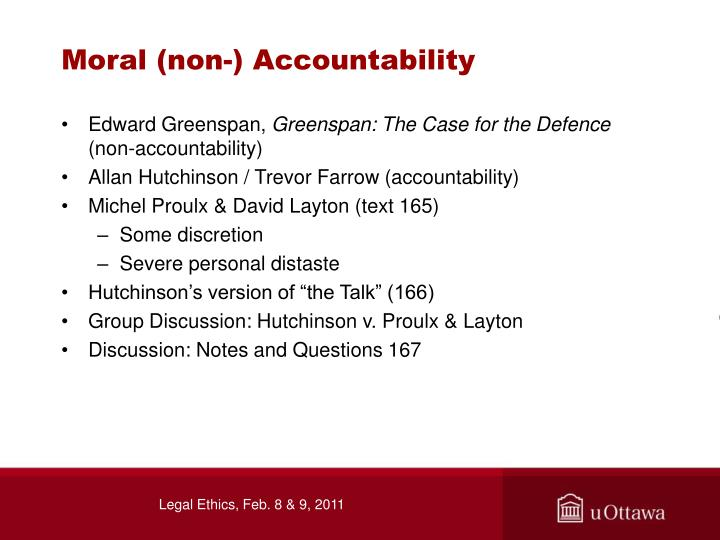 Moral (non-) Accountability