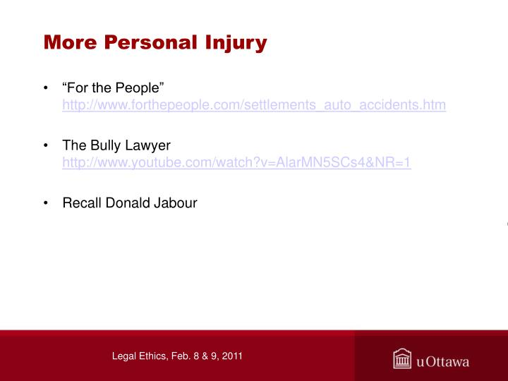 More Personal Injury