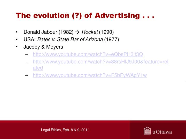 The evolution (?) of Advertising . . .