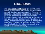 legal basis1