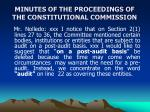 minutes of the proceedings of the constitutional commission