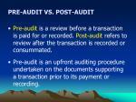 pre audit vs post audit