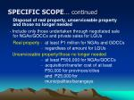 specific scope continued12
