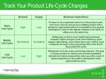 track your product life cycle changes