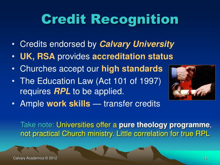 Credit Recognition