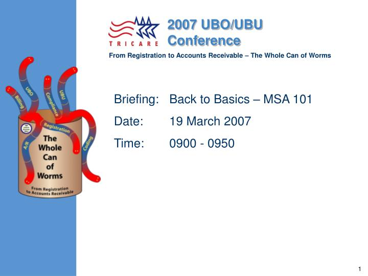 briefing back to basics msa 101 date 19 march 2007 time 0900 0950 n.