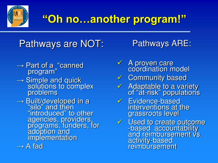 Pathways are NOT:
