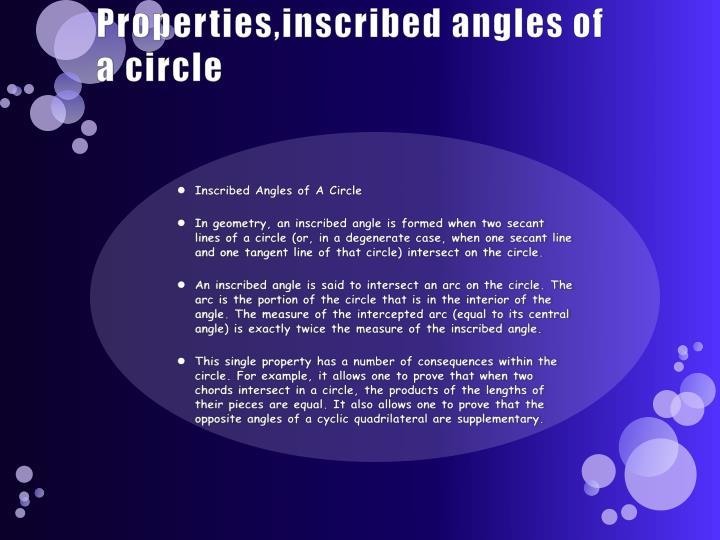 Properties,inscribed