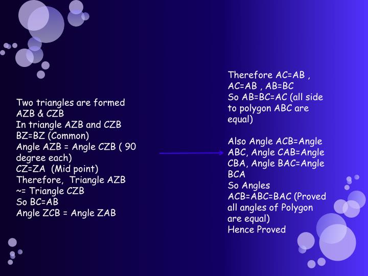 Therefore AC=AB , AC=AB , AB=BC