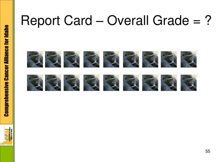 Report Card – Overall Grade = ?