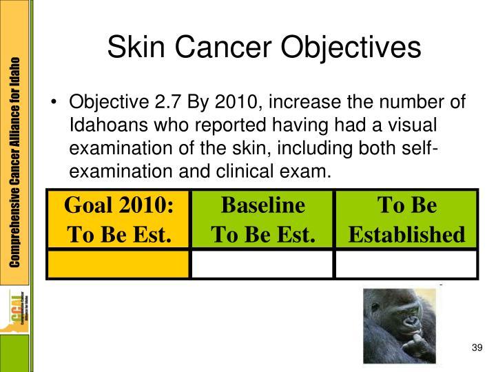 Skin Cancer Objectives