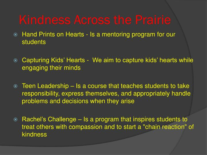 Kindness Across the Prairie