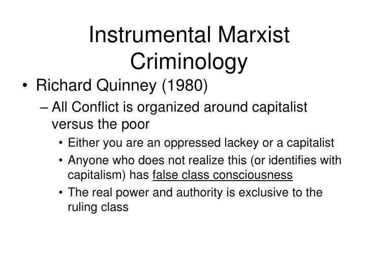 Instrumental Marxist Criminology