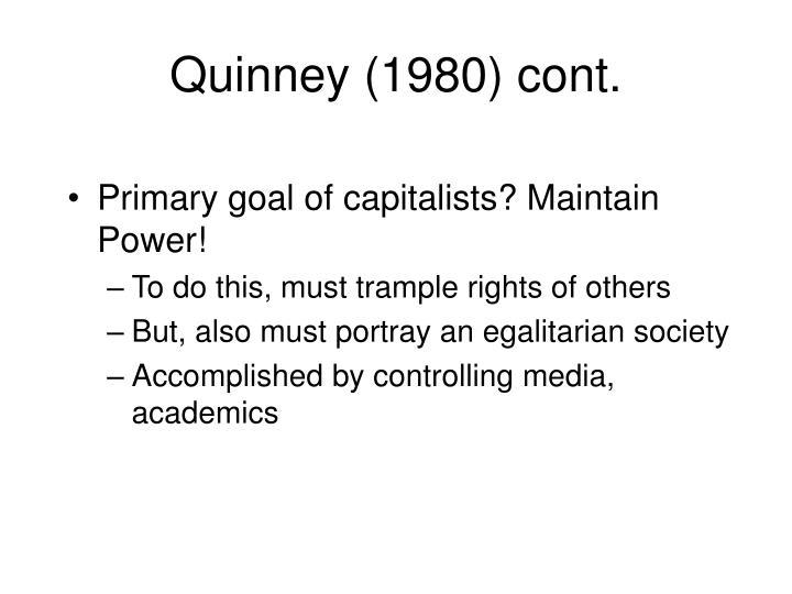 Quinney (1980) cont.