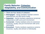 family behavior cohesion adaptability and communication1