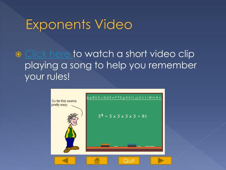 Exponents Video