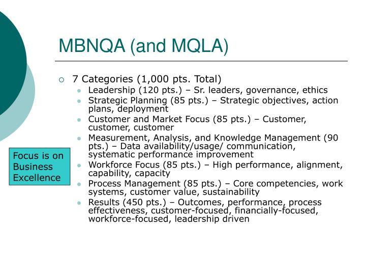 MBNQA (and MQLA)