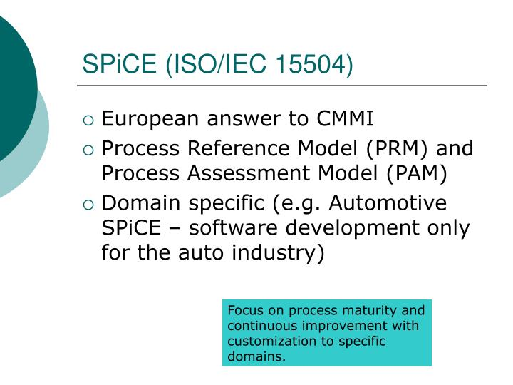 SPiCE (ISO/IEC 15504)