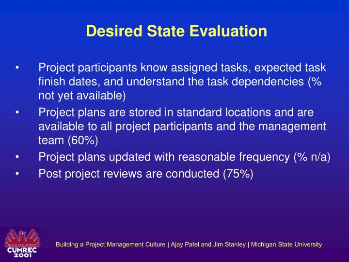 Desired State Evaluation
