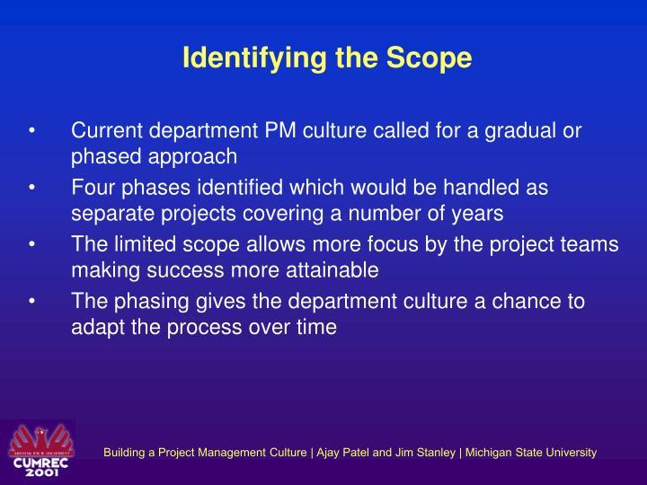 Identifying the Scope