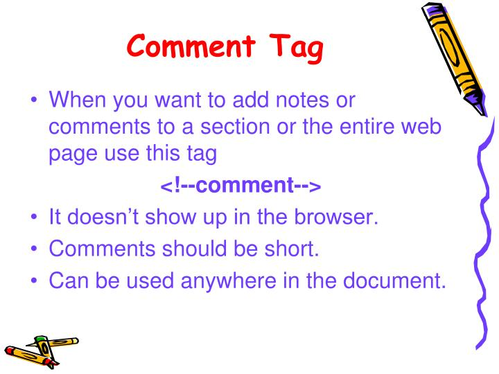 Comment Tag