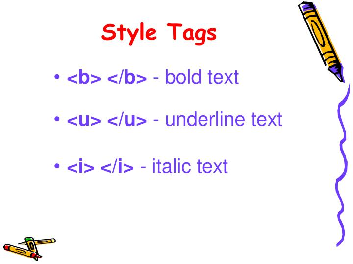 Style Tags
