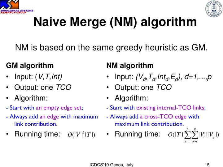 Naive Merge (NM) algorithm