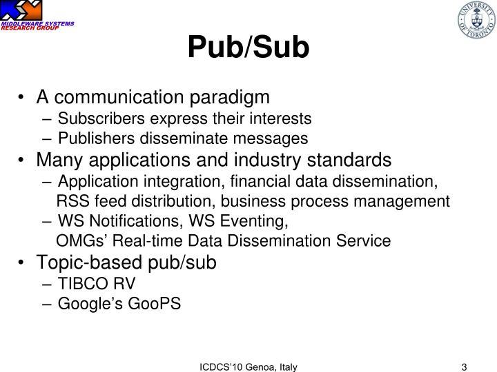 Pub sub
