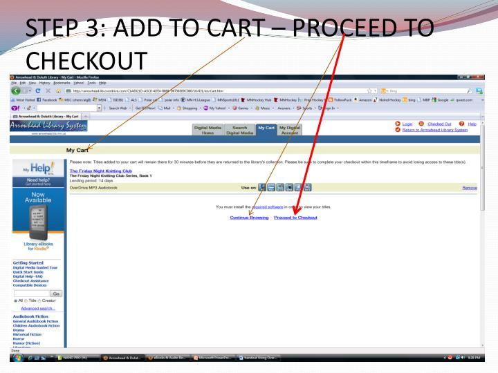 STEP 3: ADD TO CART – PROCEED TO CHECKOUT