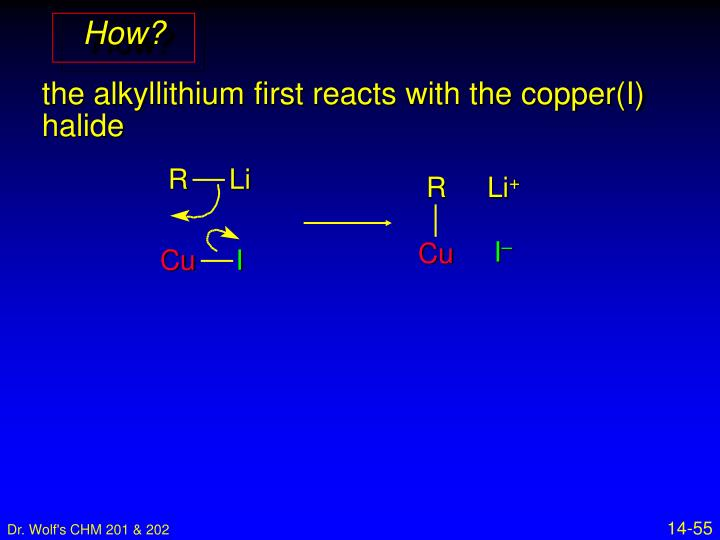 14 11 alkane synthesis using organocopper reagents