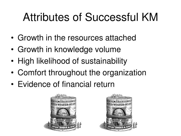 Attributes of Successful KM