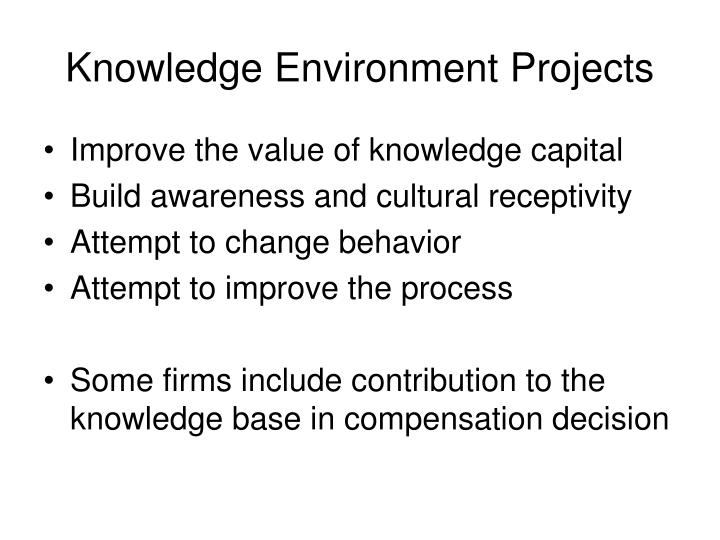 Knowledge Environment Projects