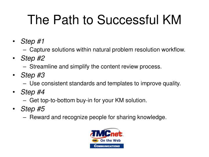 The Path to Successful KM