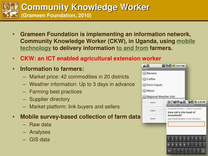 Community Knowledge Worker