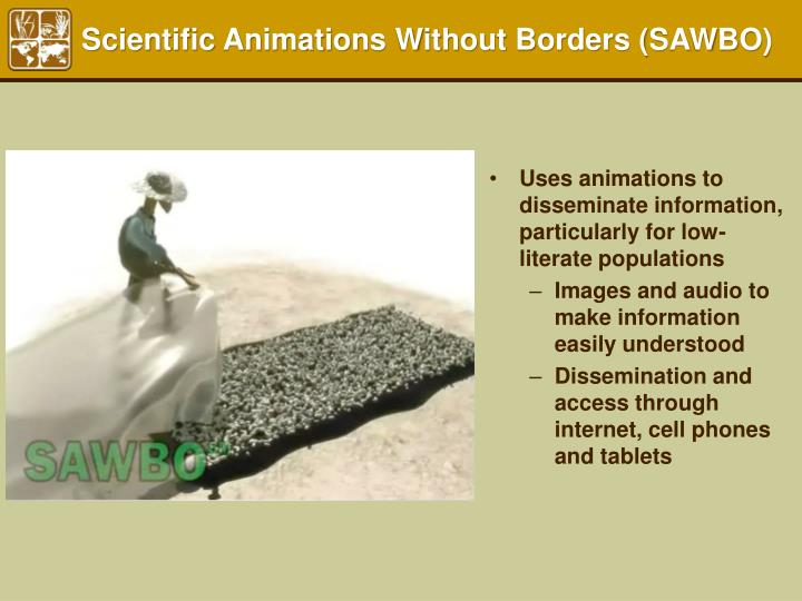 Scientific Animations Without Borders (SAWBO)