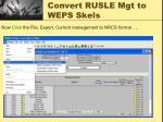 convert rusle mgt to weps skels2