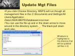 update mgt files1