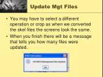 update mgt files3