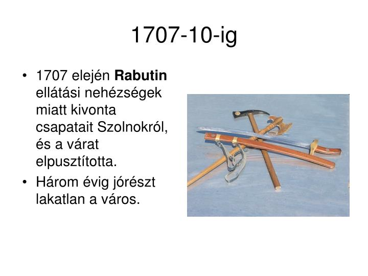 1707 elején