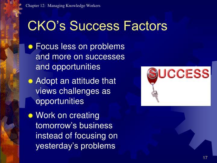 CKO's Success Factors