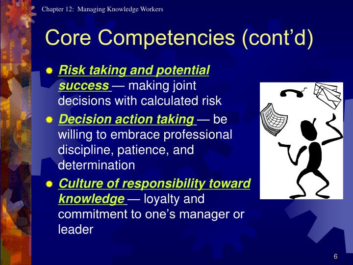 Core Competencies (cont'd)