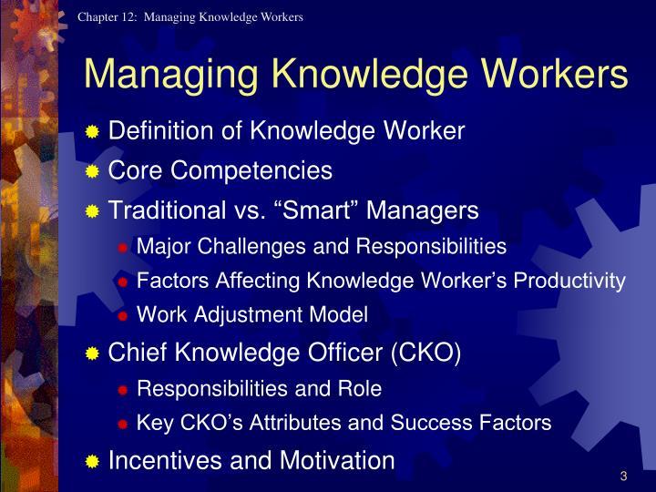 Managing knowledge workers1