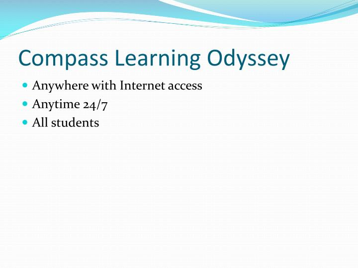 Compass learning odyssey1