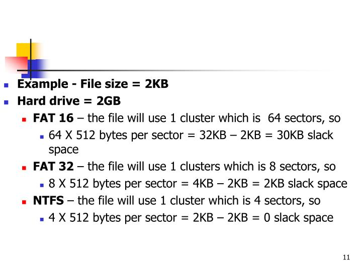 Example - File size = 2KB