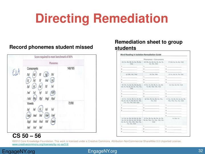 Directing Remediation