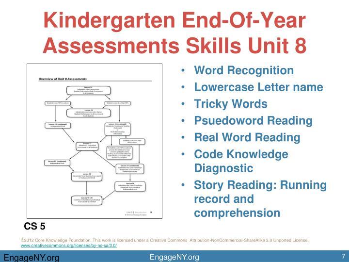 Kindergarten End-Of-Year Assessments Skills Unit 8