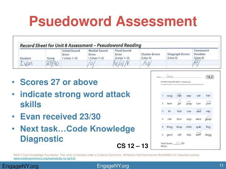 Psuedoword Assessment