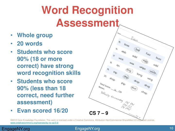 Word Recognition Assessment