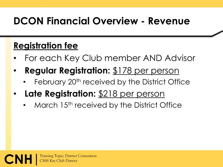 DCON Financial Overview - Revenue
