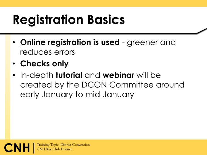 Registration Basics
